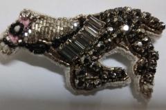 Coloured crystal stones beading