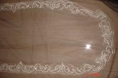 Border embroidered veil